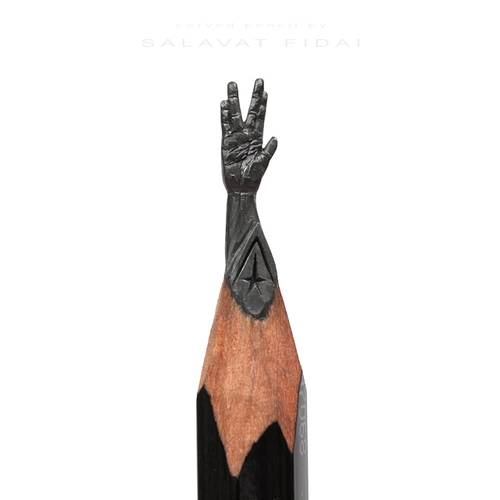12-Spock-Leonard Nimoy-Star-Trek-Salavat-Fidai-Салават-Фидаи-Architectural-Movie-Pencil-Sculpture-Carving-www-designstack-co