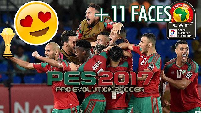 حصريا : تحديث وجوه المنتخب المغربي في لعبة PES 2017