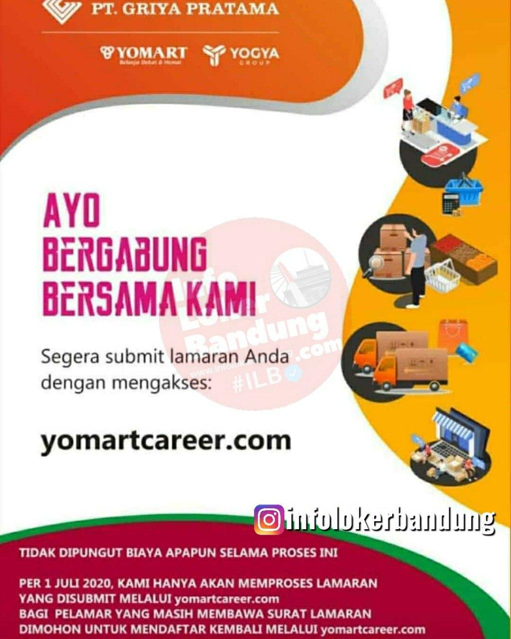 Lowongan Kerja PT. Griya Pratama ( Yomart ) Bandung Juli 2020