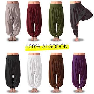 pantalones turcos mujer en colores lisos