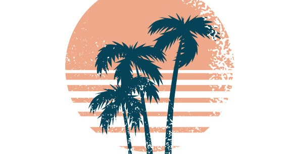 Retro Distressed Sunset Craft Design