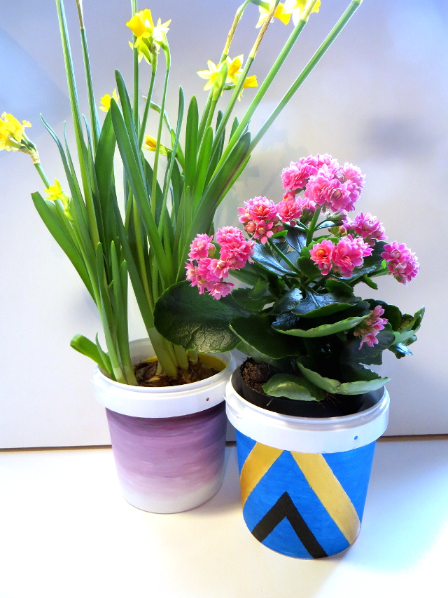 Diy Gradient And Tribal Flower Pots