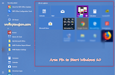 Cara membuat Pin to Start di Windows 10