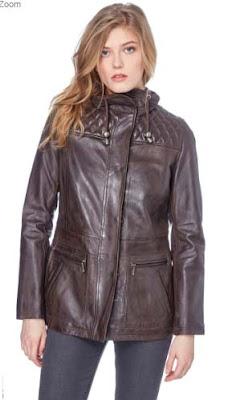chaqueta de piel para mujer de eHelium