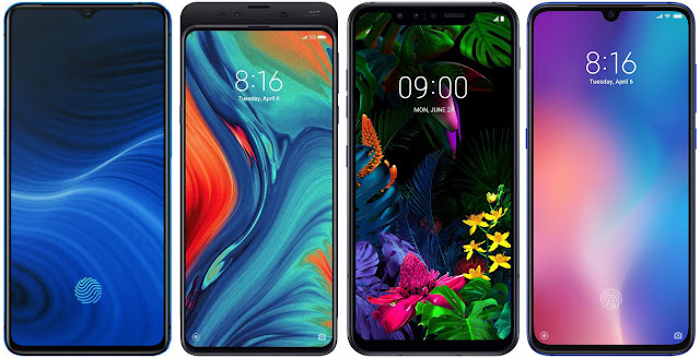 Realme X2 Pro 128 GB vs Xiaomi Mi Mix 3 5G vs LG G8 Smart Green ThinQ vs Xiaomi Mi 9
