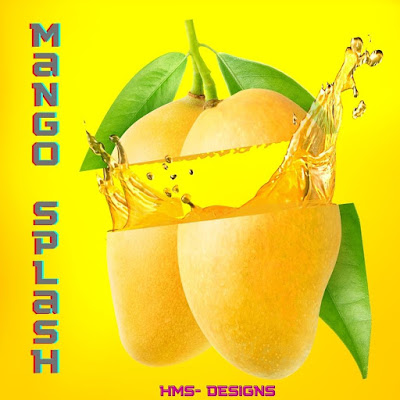 Mango Splash- Made in Canva by HMS