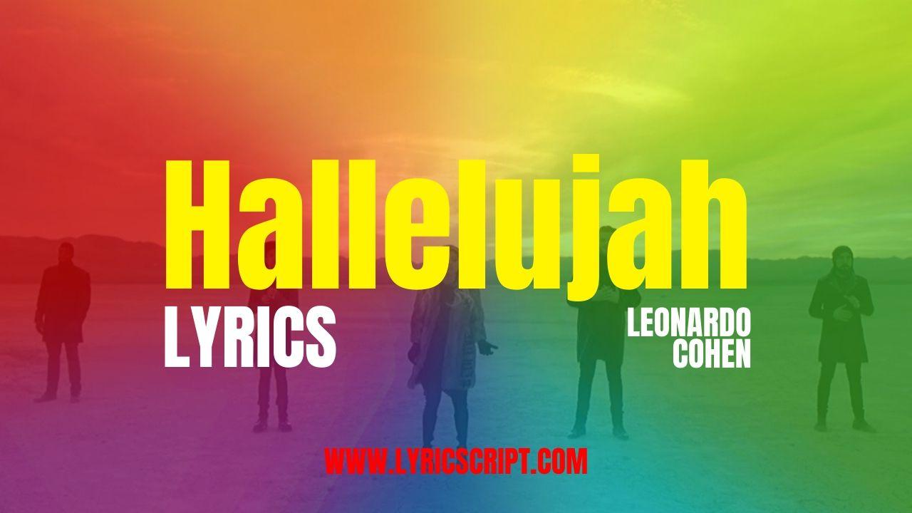 hallelujah lyrics with hd image