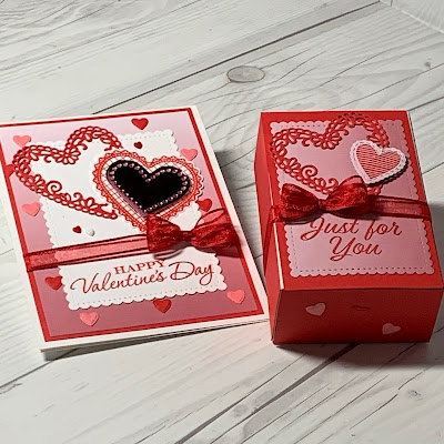 Valentine Card and Treat Box from Stampin' Up!