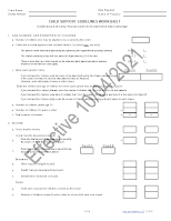2021 MA Child Support Guidelines Worksheet Page 1
