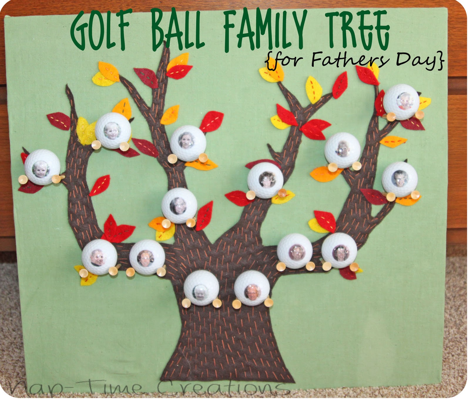 Golf Ball Family Tree Life Sew Savory