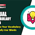 Visual Vocabulary Word: Improve Your Vocabulary with Daily Use Words: 18th Feb 2021