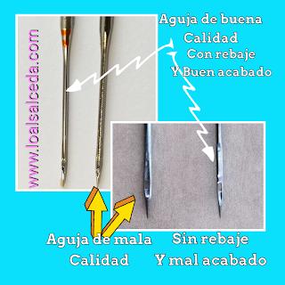 Agujas de coser de buena calidad, agujas de coser schmetz