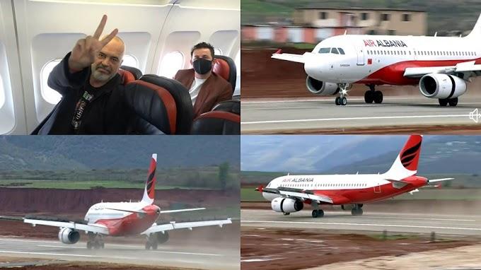 Historike/ Lajm i Fundit: Avioni prek pistën e aeroportit të ri, Rama është...