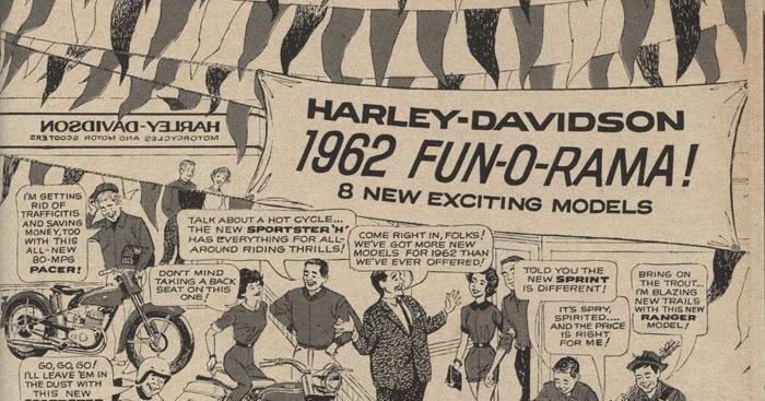 Phil Are Go!: Three motorbike ads - Harley, Honda    Cushman?