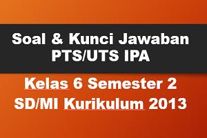 Download Soal dan Kunci Jawaban PTS/UTS IPA Kelas 6 Semester 2 SD/MI Kurikulum 2013
