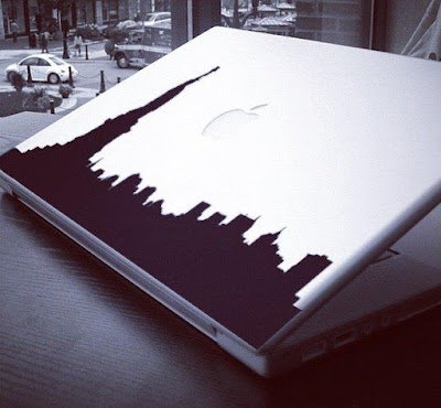 NY Skyline Macbook Sticker