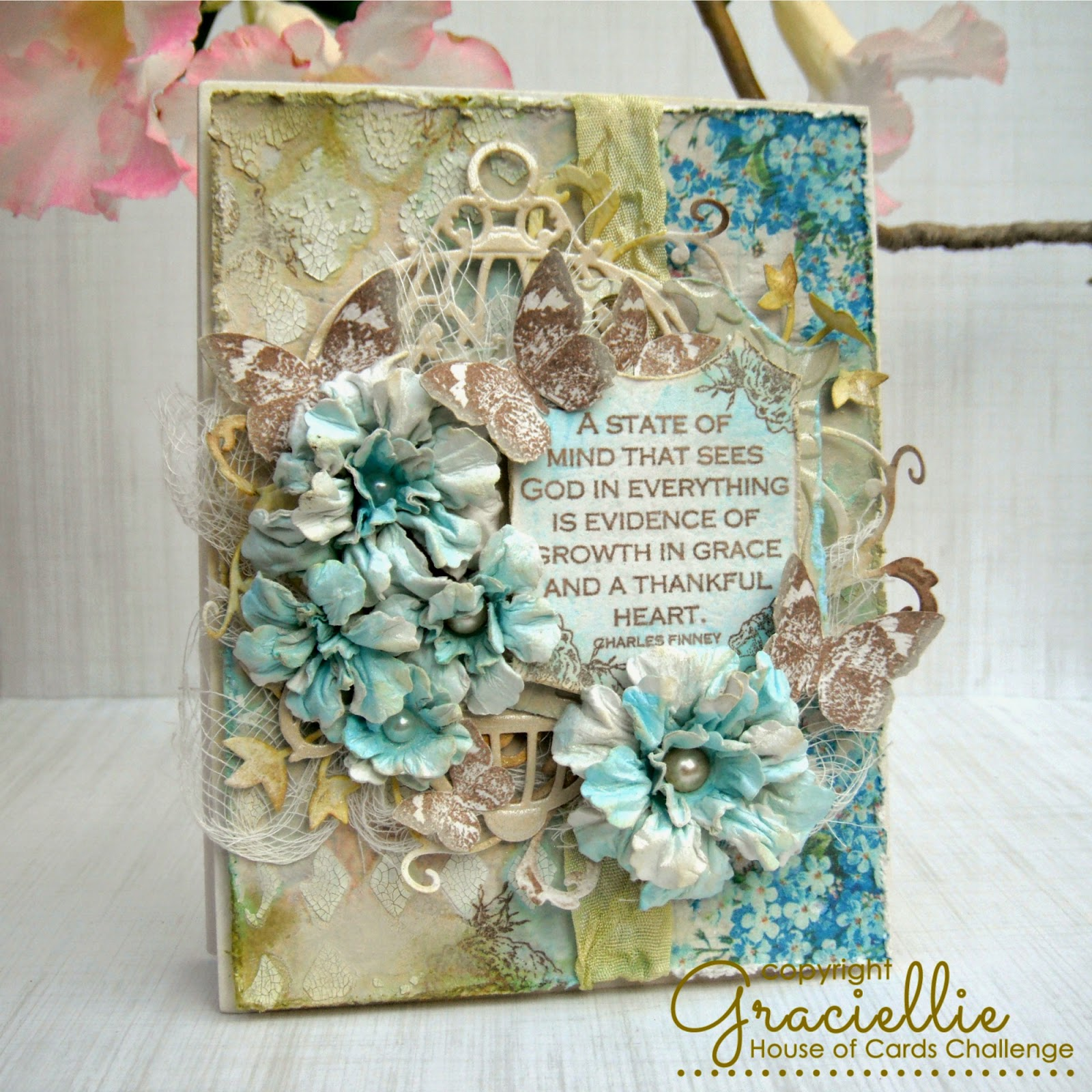 A Shabby Chic Spring Card - House of Cards