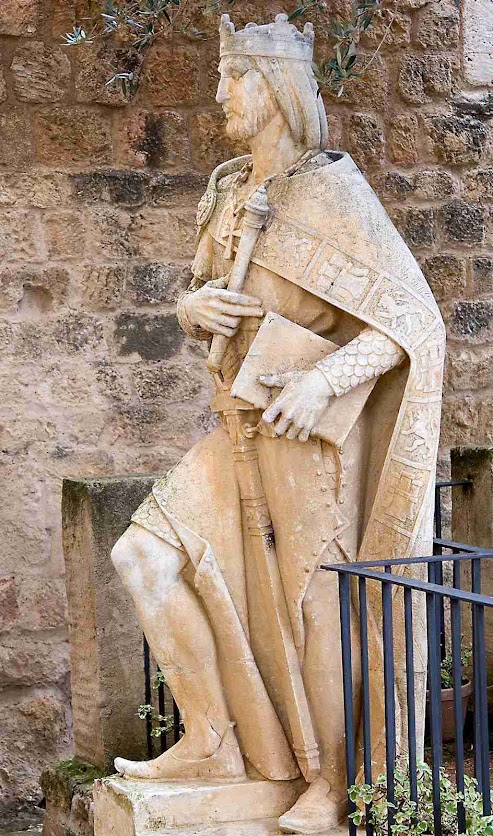 São Fernando III, el Santo, no alcácer de Córdoba