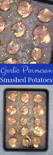 Garlic Parmesan Smashed Potatoes recipe