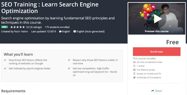 [100% Free] SEO Training : Learn Search Engine Optimization