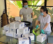 Grace Poe resurfaces to give COVID-19 testing kits to several MM brgys
