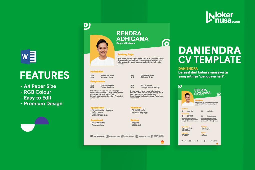 Daniendra CV Template Premium