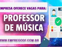 Emprego para  Professor de música ( R$ 2151,24)