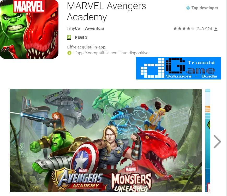 Trucchi  Marvel Avangers Academy Mod Apk Android v4.0.3