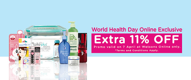 Watsons Online Store Extra 11% Discount Promo