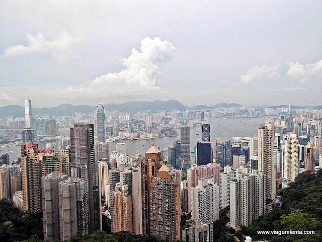 Visão do pico Victoria, no topo de Hong Kong