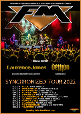 FM + Laurence Jones - UK tour - April / May 2021 - poster