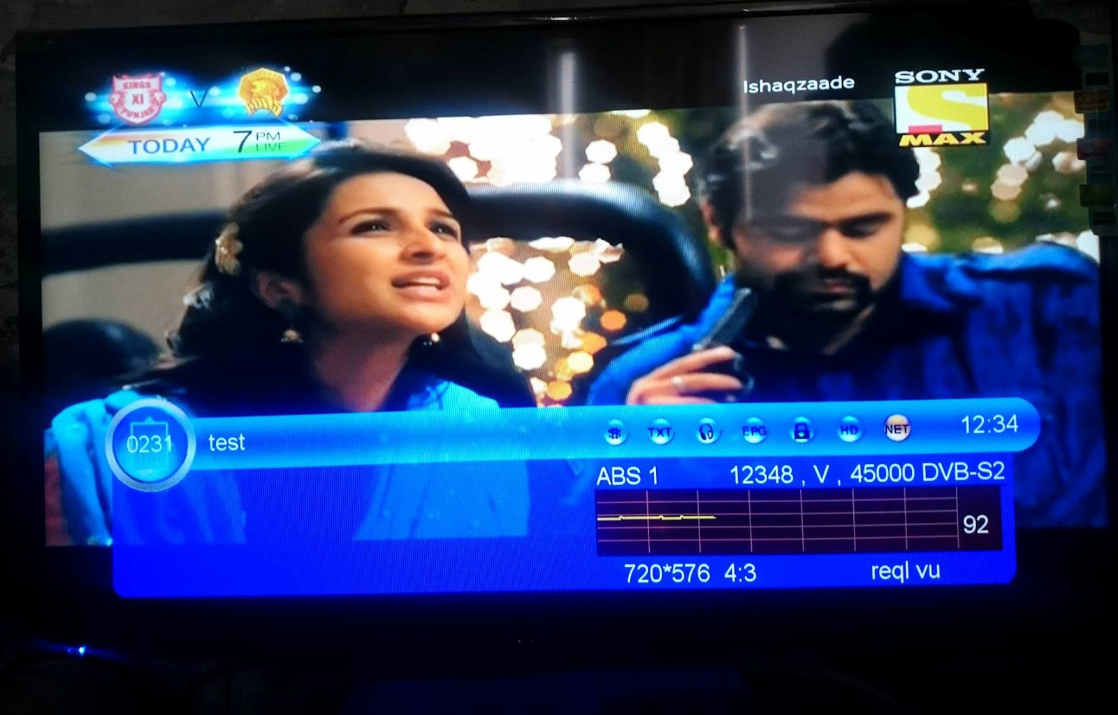 Sony Max SD FTA on ABS-2 74 9* East - Sat Tuners