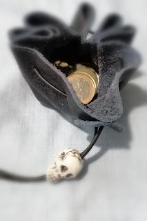 LoveLea's navy skull head money pouch