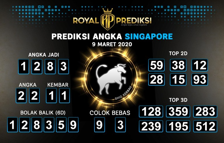 Prediksi Togel Bocoran Singapura Senin 09 Maret 2020 - Prediksi Angka SGP