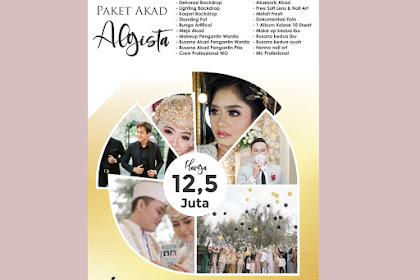 Template Brosur Paket Wedding Bertema Elegant