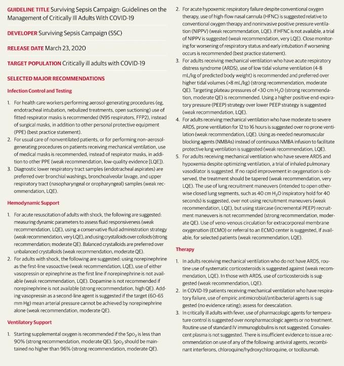 La gestión de los adultos en estado crítico con Covid-19