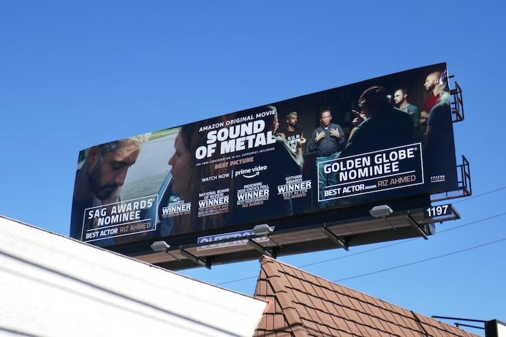 Sound of Metal nominee billboard