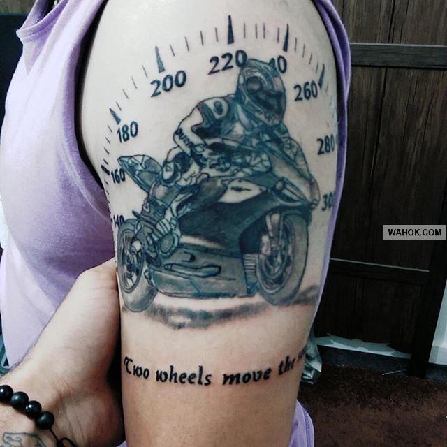 100% Gambar Tattoo 3D Motor Balap, Vespa, Tril Paling Keren Dan Terbaik 2016-2017