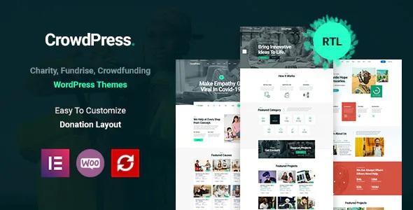 Best Crowdfunding Responsive WordPress Theme