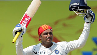 The Fastest triple century record holder, Virender Sehwag