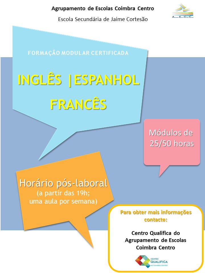 Formação modular certificada (Inglês, Espanhol e Francês) – Coimbra