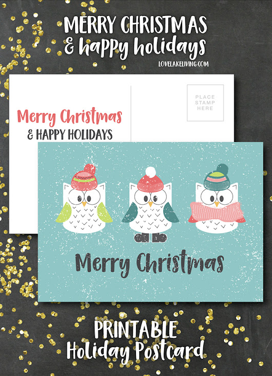 free christmas postcard printable.