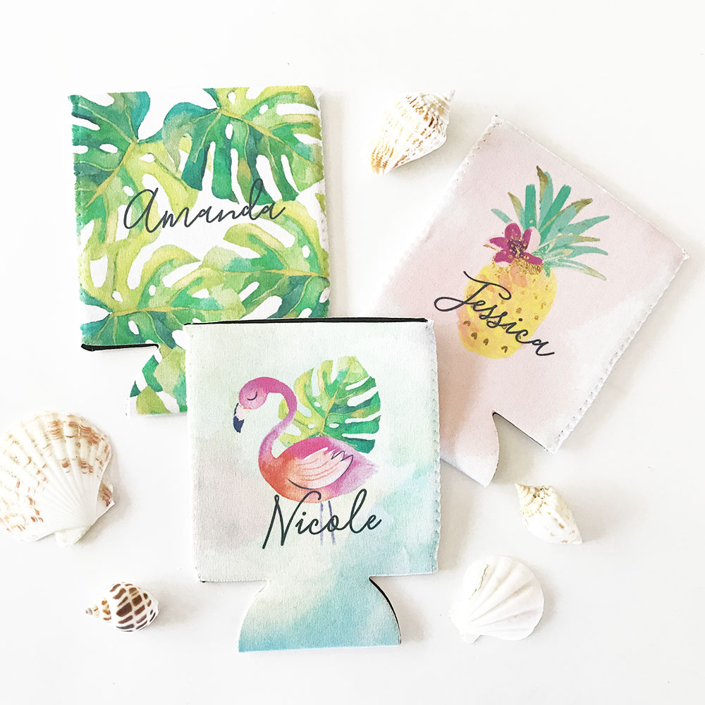 Tropical Personalized Koozies