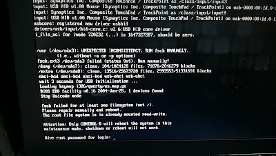 hmc filesystem check failed reboot boot fsck