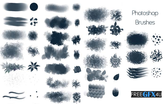 50 Photoshop Texturing Brushes Pack