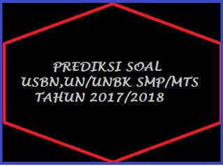 Latihan Soal UN Matematika SMP Tahun 2017/2018