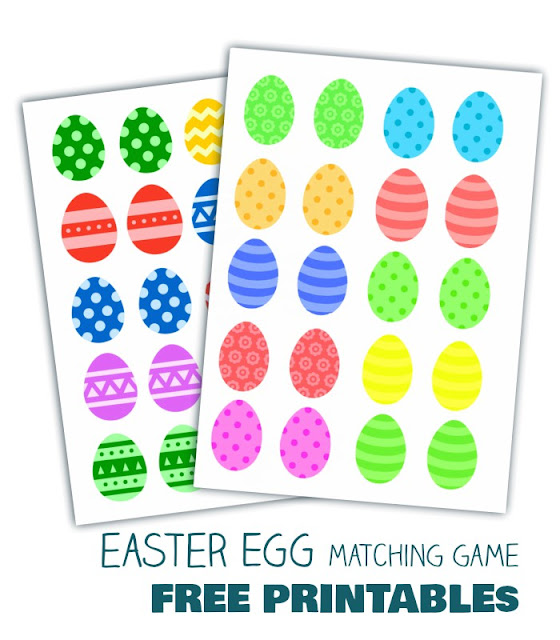 Easter egg matching game and 2 free printables for kids. Get this new free Easter printable to enjoy with your kids!