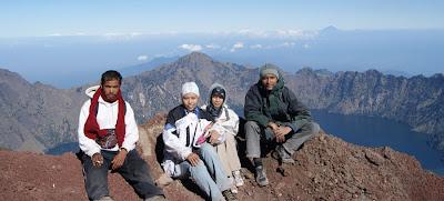 Summit Mount Rinjani 3726 meter