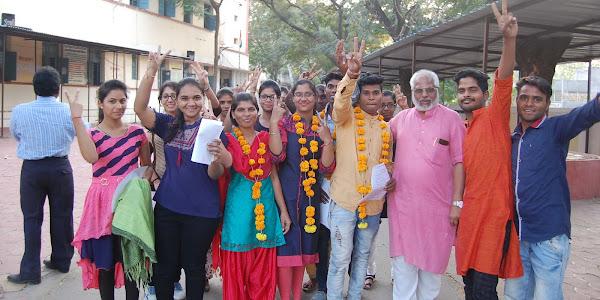 झाबुआ जिले में महाविद्यालयीन छात्रसंघ चुनाव में विद्यार्थी परिषद ने भगवा परचम फहराया