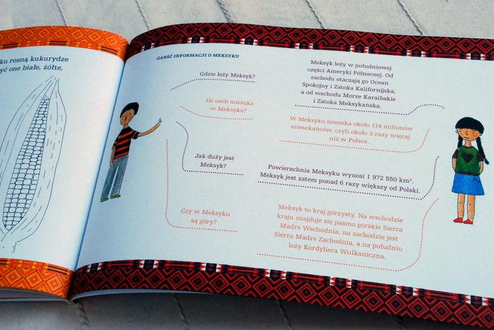 Wnętrze książki, kolorowanka i ciekawostki